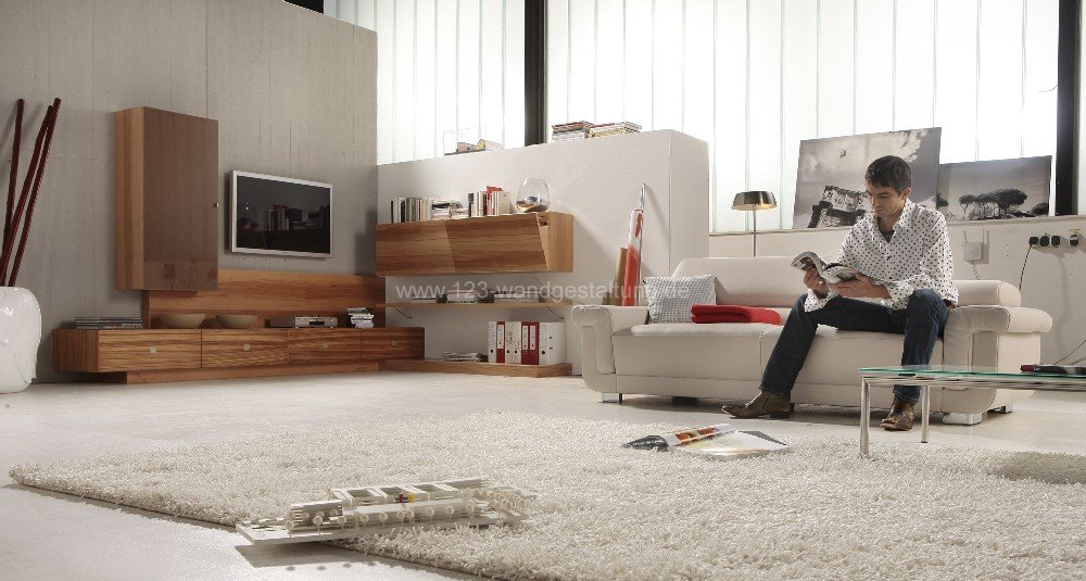 Mediterrane Wandgestaltung Wohnzimmer - Garten Ideen Aus Holz