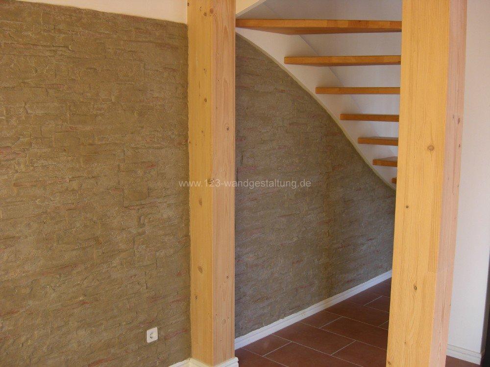 Wandgestaltung Stein Wohnzimmer : Wandgestaltung Mit Steinen Im ...