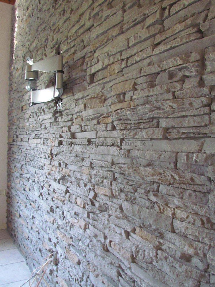 ... Wohnwand : Wohnzimmer Steinwand Grau Pictures to pin on Pinterest