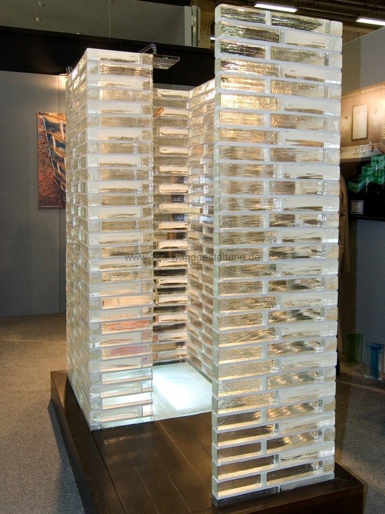 Glasbausteine kreative glasw nde und r ckw nde als - Duschwand aus glasbausteinen ...