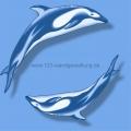 Mosaikfliesen- Serie Pools - Dolphins