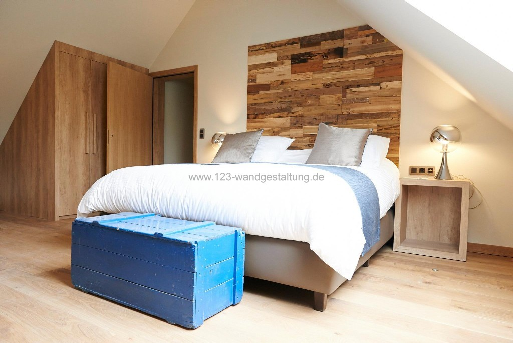 Schlafzimmer ideen wandgestaltung holz  Schlafzimmer Renovieren Ideen