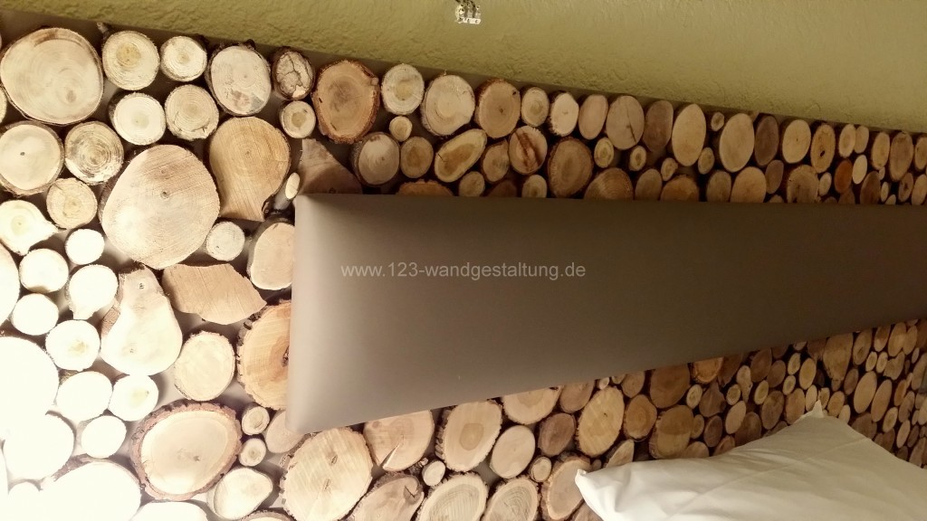 holzpaneelen sticks holzverkleidung in baumscheiben optik. Black Bedroom Furniture Sets. Home Design Ideas
