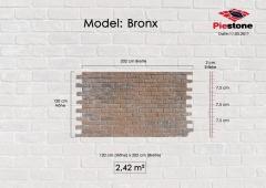 Kunststeinpaneele Bronx - Massblatt
