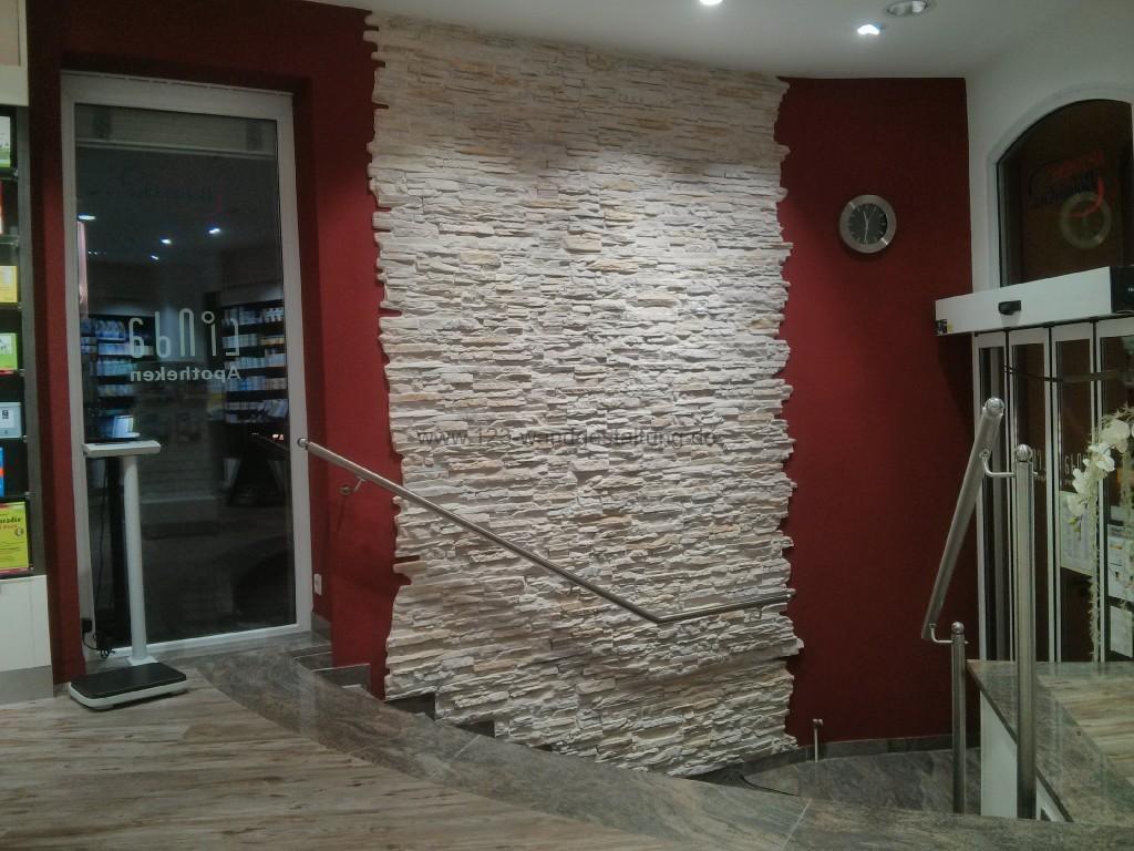 Moderne steinwand mit der kunststeinpaneele versailles