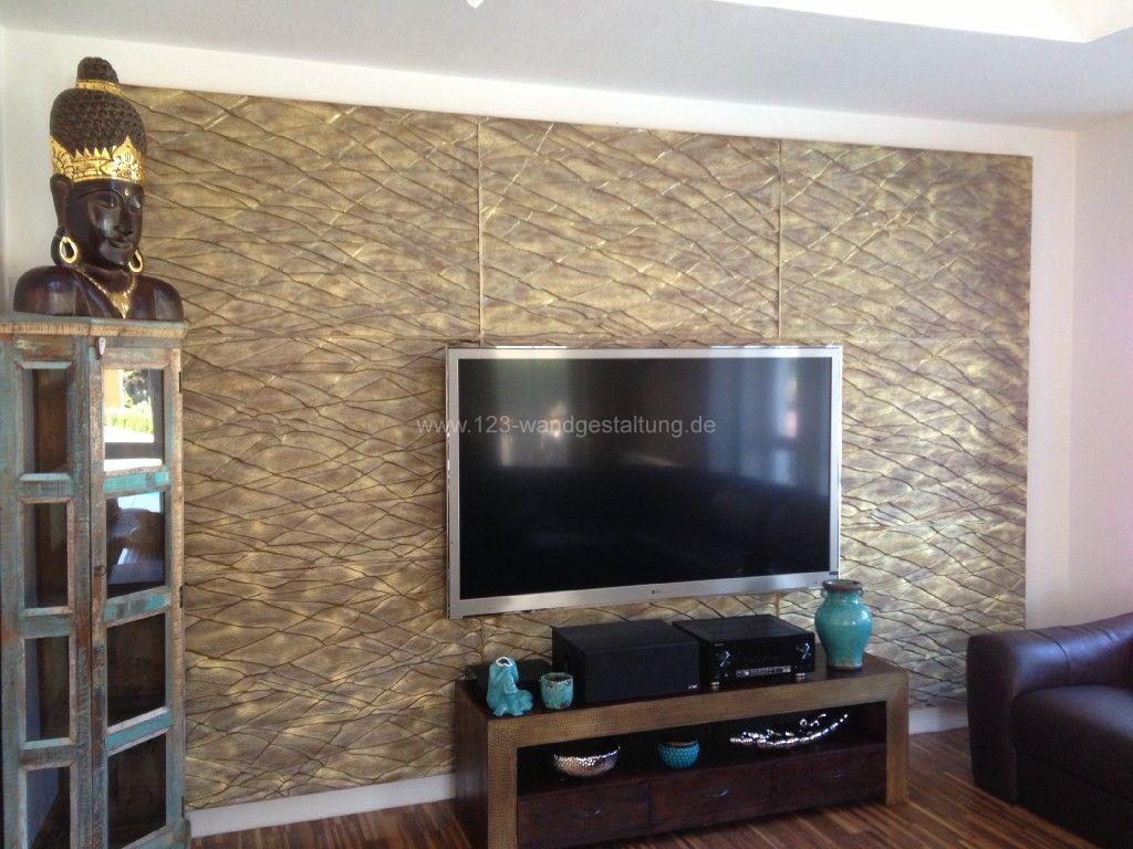 wohnzimmer wandgestaltung stein – Dumss.com
