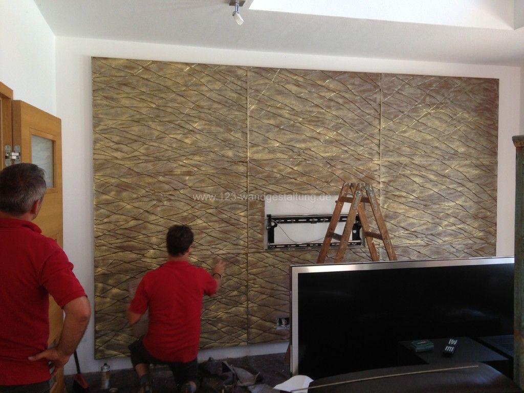 Wandgestaltung wohnzimmer stein – midir