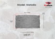 Kunststeinpaneele Marsalla Massblatt