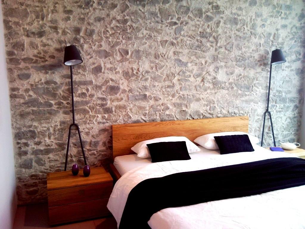 Schlafzimmer Ideen Wandgestaltung Stein – MiDiR