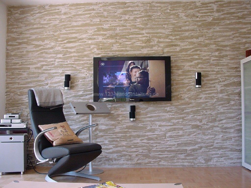 steinwände in schieferoptik mit kunststein wandpaneele shetland, Wohnzimmer