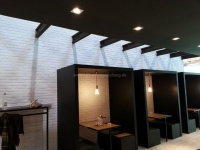 Kunststeinpaneele London weiss - Messebau Euroshop