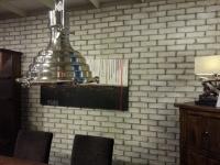 Ziegelsteinwand - Kunststeinpaneele Bronx Antikweisss - Ladenbau