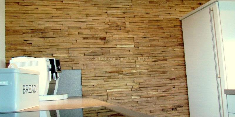 Holzverkleidung Cuts Eiche in der Küche