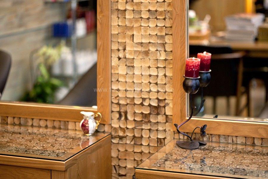 Dekorative und innovative wandverkleidung aus holz - Holzfliesen wand ...