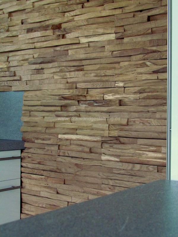 Wandgestaltung mit der holzverkleidung cuts aus eichenholz - Wandgestaltung bildergalerie ...