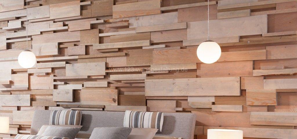 Holzwand fields innovative wandgestaltung aus holz - Holzwand selber bauen ...