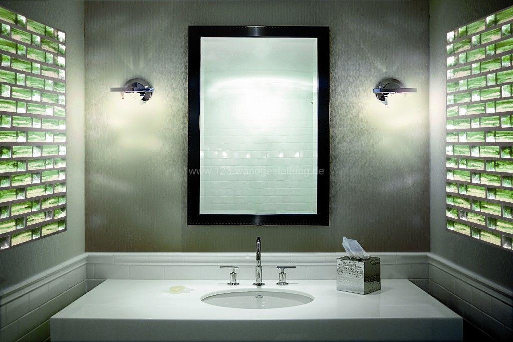 Glasbausteine - Kreative Glaswände und Rückwände als Wandgestaltung