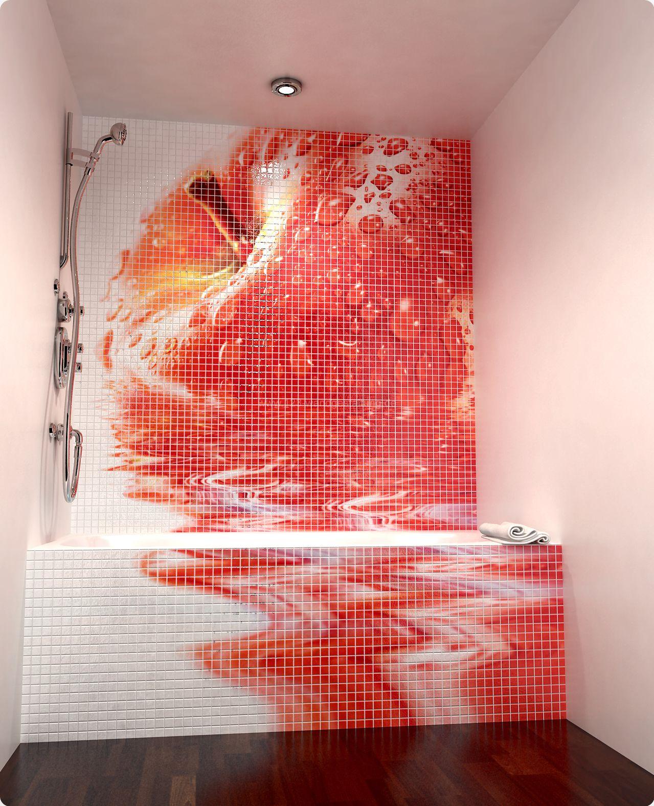 wandgestaltung mit mosaikfliesen aus keramik fr das badezimmer - Mosaik Fliesen