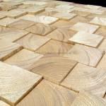 Holzverkleidung Blocks Fichte / Tanne mit geschliffener Oberfläche