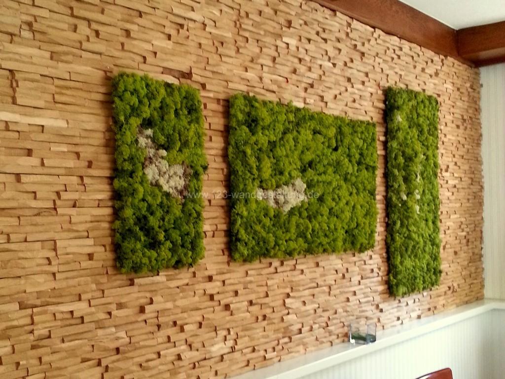 moosw nde innovative wandbegr nung mit moospaneelen. Black Bedroom Furniture Sets. Home Design Ideas