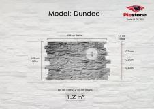 Kunststeinpaneele Dundee - Massblatt