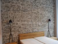 Mediterrane Wandgestaltung mit Marsalla - antik-grau - Schlafzimmer