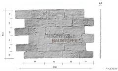 Steinpaneele Mostar Massblatt