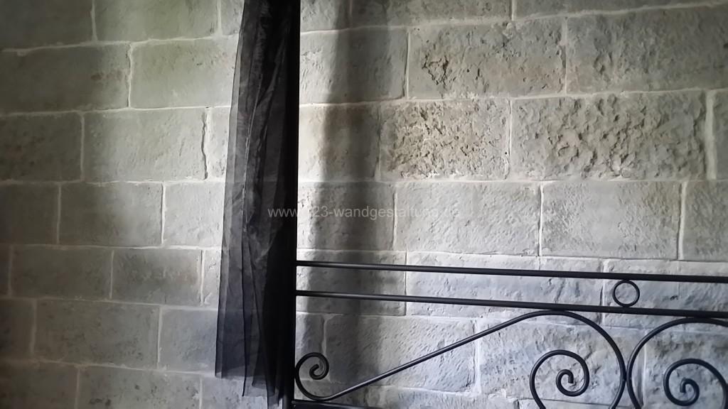 kunststeinpaneele mostar steinwand im schlafzimmer - Steinwand Schlafzimmer