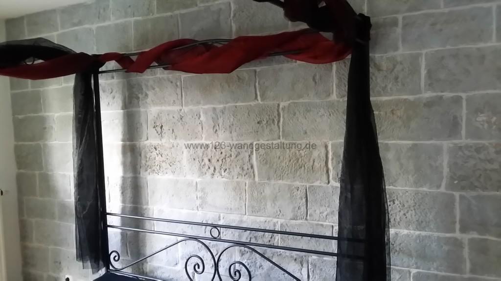 Kunststeinpaneele Mostar   Steinwand Im Schlafzimmer