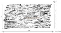 Steinpaneele Shetland Massblatt