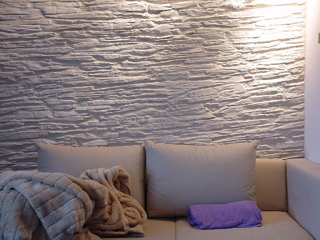 Kunststeinpaneele Shetland White Ouiwohnzimmer 1
