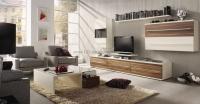 Kunststeinpaneele Beton - Wandgestaltung Wohnzimmer
