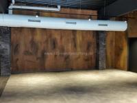 Metallische Wandgestaltung Rost Optik - Kantine