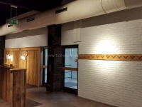 Rustikale Wandgestaltung Ziegelstein Optik