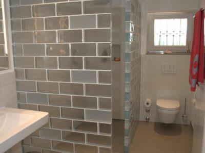 Duschtrennwand - Glasbausteine - Neutral und Satin