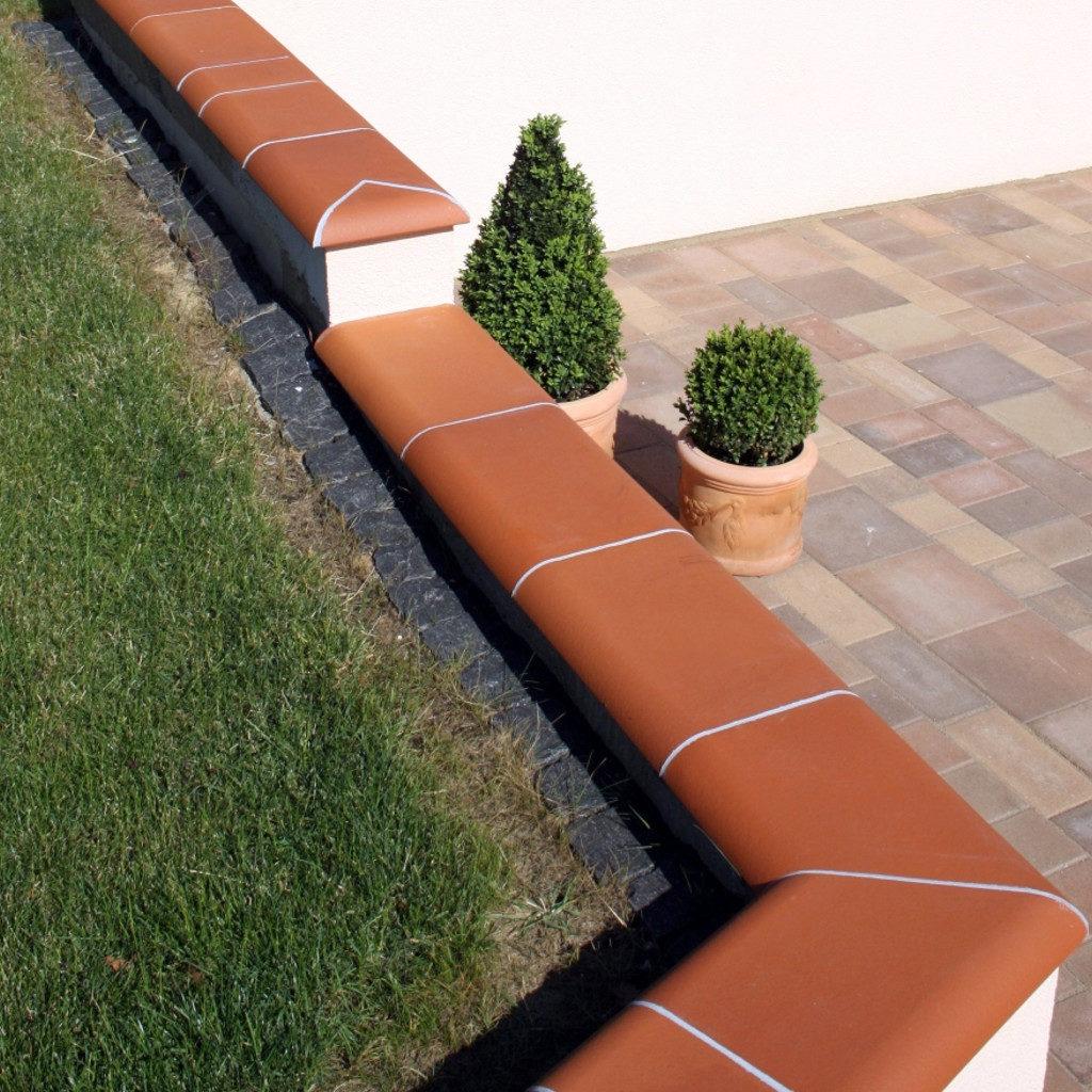 Gartengestaltung Mauerabdeckung Chaperon Plate