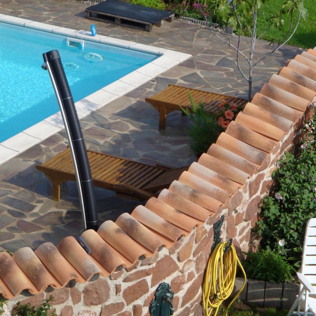 Gartengestaltung Mauerabdeckung Moench Nonne Toscana