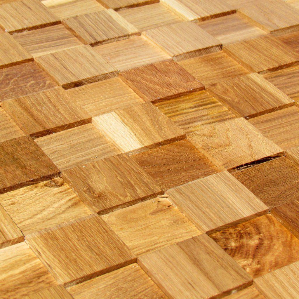 Holzpaneele - Ambiente Wood - Blocks Glatt Eiche