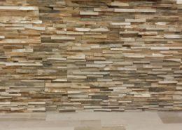 Wandverkleidung mit der Wandpaneele aus Massivholz - Memory Eiche