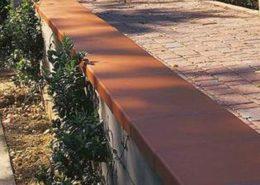 Mediterrane Mauerabdeckplatte Chaperon Muro aus gebranntem Ton