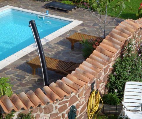 Mönch und Nonne Dachziegel Toscana für die Gartenmauer