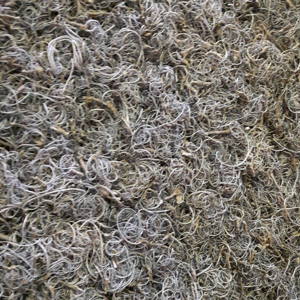 Individuelle Mooswände oder Moosbilder mit Curly Moos - Farbe Grau