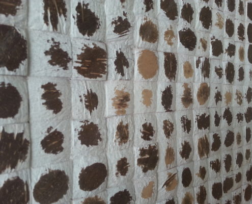 Mosaikfliesen - Cocomosaic - White Polkadot - Detailansicht
