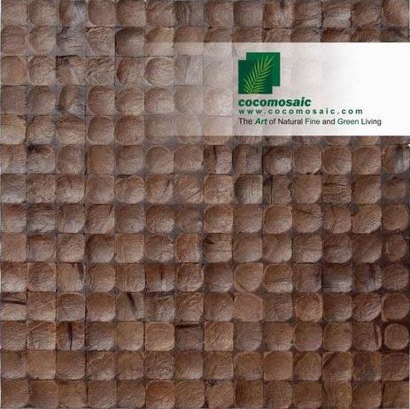 Holzfliesen von Cocomosaic aus der Schale der Kokosnuss in der Farbe