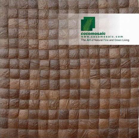 Holzfliesen von Cocomosaic aus der Schale der Kokosnuss in der Farbe Expresso Grain