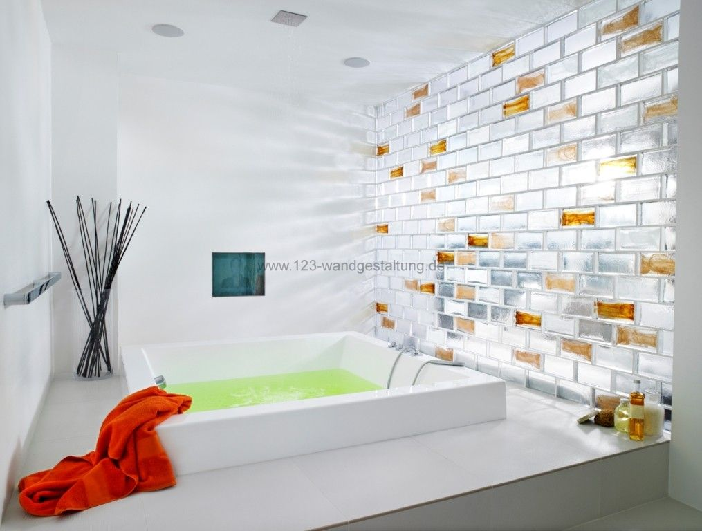 Glasbausteine kreative glasw nde und r ckw nde als - Wand aus glasbausteinen ...